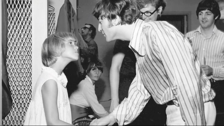 The Beatles backstage at Shea Stadium, New York August 15, 1965