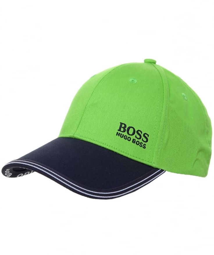 ♥ HUGO BOSS Green Logo Cap   julesb.co.uk   Made from pure cotton with a classic structured crown for comfort and signature logo embroidery, the sports cap will make a stylish off-duty addition to your accessories collection. Complete with branded metal hardware for added designer appeal, the versatile baseball cap by Hugo Boss is a go-to accessory to pair with your weekend wardrobe.