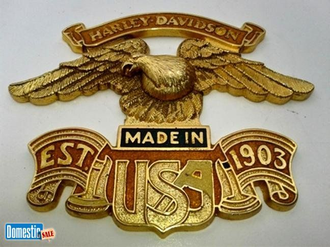 Vintage Harley Davidson Sissy Bar Brass Enamel Emblem USA Eagle http://partsreadyonline.com/item.php?ItemID=1668 Vintage Harley Davidson Sissy Bar Brass Enamel Emblem USA Eagle ...