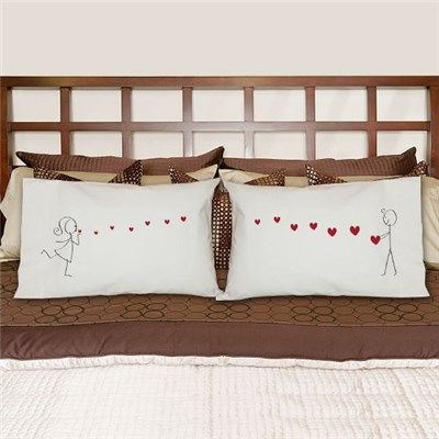 Couples Pillowcases | Kisses Pillowcase Set