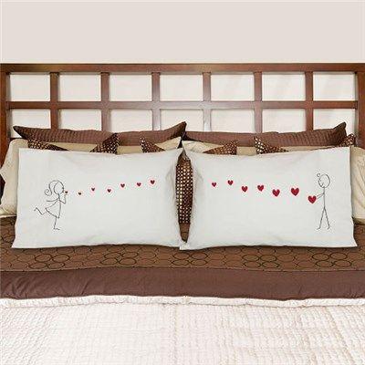Couples Pillowcases | Kisses Pillowcase Set
