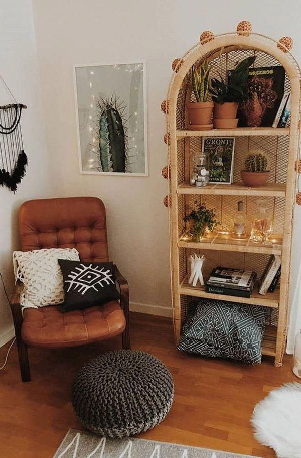 A mix of mid-century modern, bohemian, and industrial ...