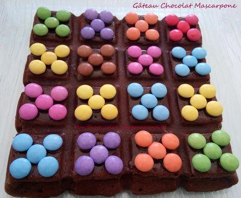 Schokoladenkuchen Mascarpone (Cyril Lignac) …. und Smarties   – gâteaux