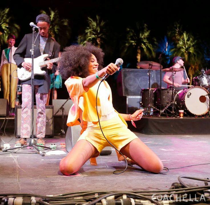 Solange performing at Coachella