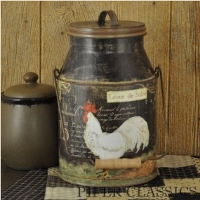 Rooster Milk Can