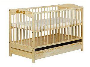 Dětská postýlka se šuplíkem - Vláček | DARJA - dětský nábytek