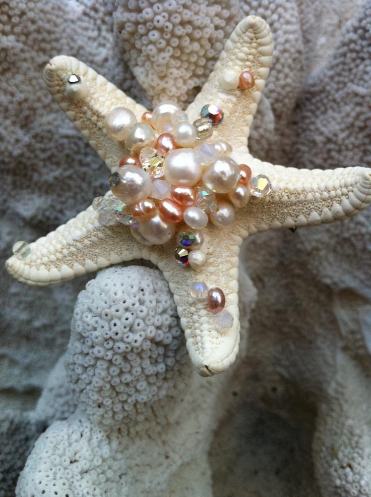 Royal Mermaid Starfish Hair Clip. $35.00, via Etsy.