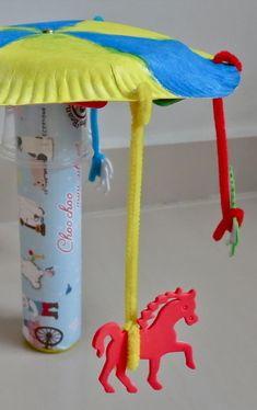 Horse Carousel Craft For Kids / blog.mybabyfootsteps.com