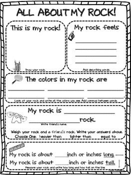 "$2 ""ALL ABOUT MY ROCK"" GRAPHIC ORGANIZER/RESEARCH PAPER - TeachersPayTeachers.com"