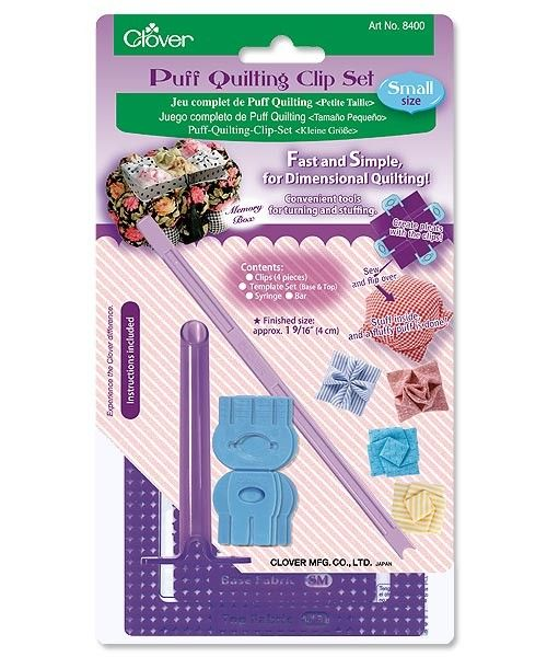 Clover Puff Quilting Clip Set Small Part No. 8400
