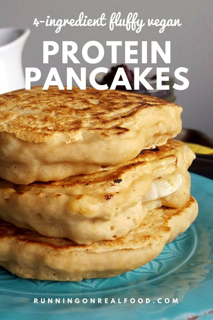Fluffy Vegan Protein Pancakes Recipe Vegan Protein Pancakes Protein Powder Recipes Protein Pancakes