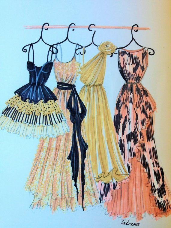 Mi ilustración ORIGINAL moda vestidos
