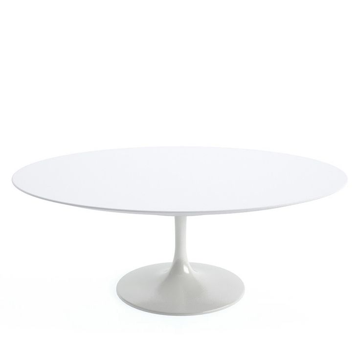 Saarinen 107cm Oval Coffee Table with White Base by Knollstudio - CoffeeTables - Tables - Furniture