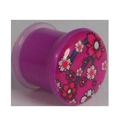 Voodoo Piercings- Body Jewellery-Flesh-Plug-Tunnel-Oriental flowers with a PURPLE background 10mm by Voodoo Piercings, http://www.amazon.co.uk/dp/B00AE7D6JQ/ref=cm_sw_r_pi_dp_qMY3qb1XZR1A6