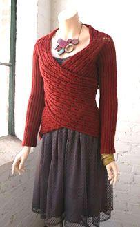Wrap cardigan pattern - knit