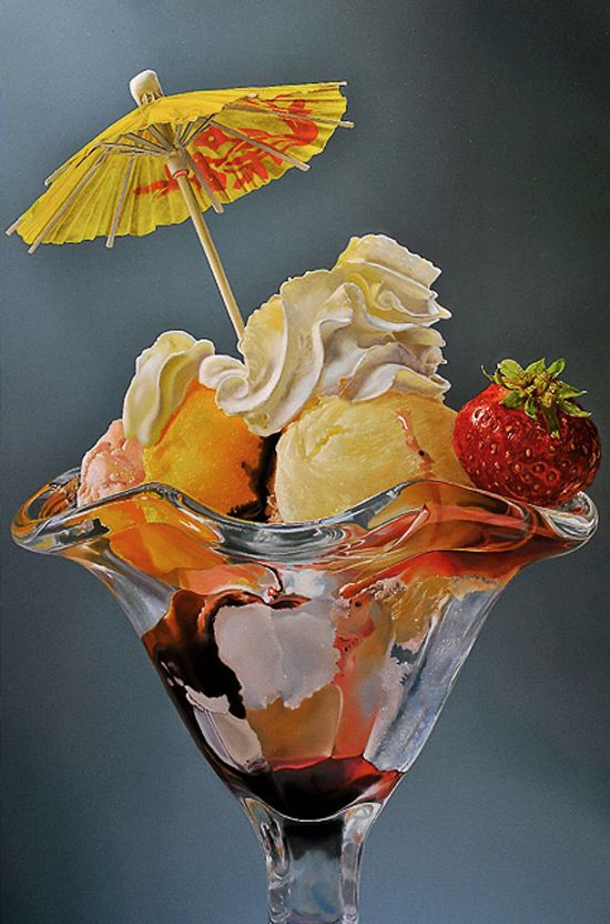 colorful, hyper-realistic paintings by Tjalf Sparnaay
