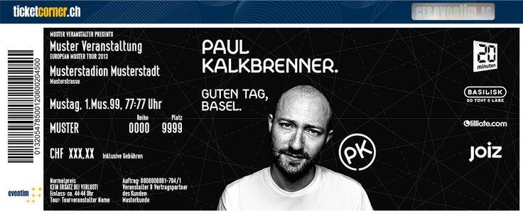 Paul Kalkbrenner: Guten Tag, Basel. 30.11.13 in der St. Jakobshalle. Das FanTicket jetzt erhältlich bei Ticketcorner. #PaulKalkbrenner www.ticketcorner.ch/paul-kalkbrenner
