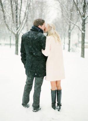 Snowy Chicago Engagement + WIUP – Parchen Fotos – Color Photo Pinterest – #Chica…