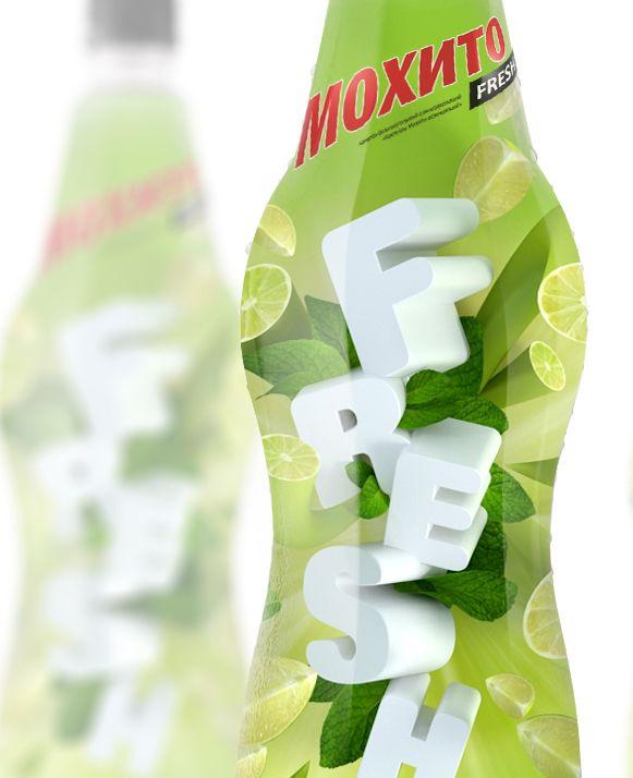 Mojito FRESH — безалкогольный напиток в дизайне от DIZZID