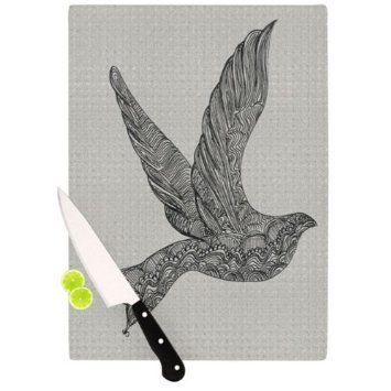 Amazon.com: Kess InHouse Belinda Gillies Dove Artists Cutting Board, 11.5 by 8.25-Inch: Arts, Crafts & Sewing