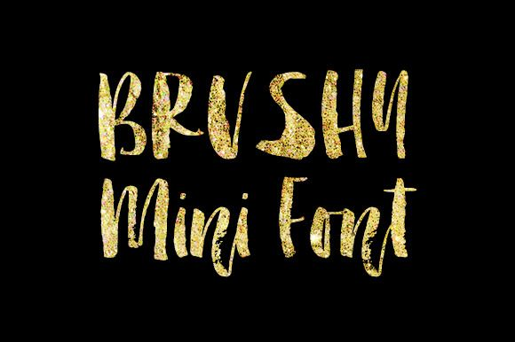 Brushy Mini font by Molly Jacques on Creative Market