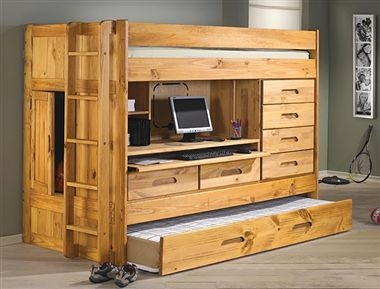 Loft Bed All In One Desk Drawers Trundle Storage In