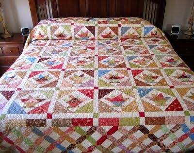 A LA MODE QUILTColchas, Baskets Quilt, Mode Quilt Great, Daisies, 20 Baskets, Quilt But, Bakset Quilt, Quilt Great Border, Cupcakes Rosa-Choqu