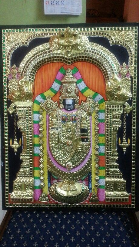 Tanjore PAinting of Lord Venkatesa