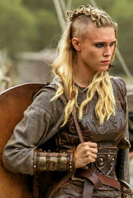 Viking Braids: Porunn's New Braided Hairstyle. I love the fierce soul of this girl!