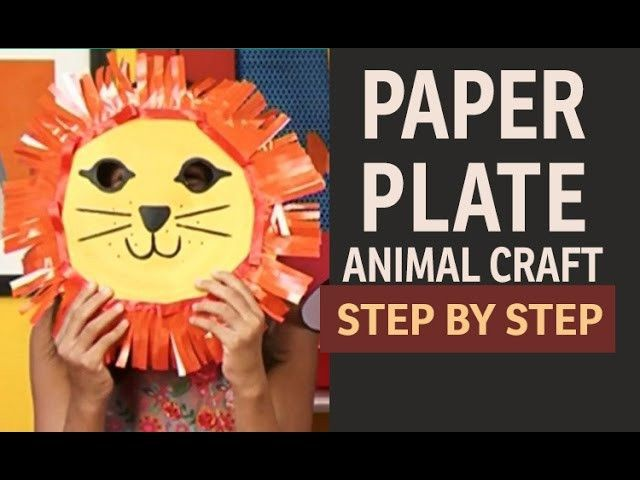 how to make lion mask with paper