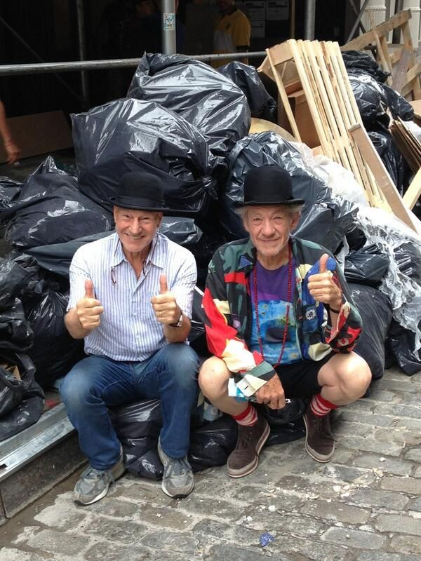 """""""Patrick Stewart And Ian McKellen's Friendship Is Better Than Yours"""" • They are so cute! I wish I had an Ian McKellen! (I am assuming that I'm the Patrick Stewart of the relationship)"""
