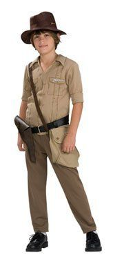 Indiana Jones Child Costume Size Small by Paper Magic Group. $23.98. This Indiana Jones Child Costume will be a hit costume for dress-up or Halloween.. This hit costume includes a shirt, pants and hat.. polyester. Includes: Shirt, pants and hat. Satchel, belt and shoes not included. This is an officially licensed Indiana Jones costume.. Save 27% Off!