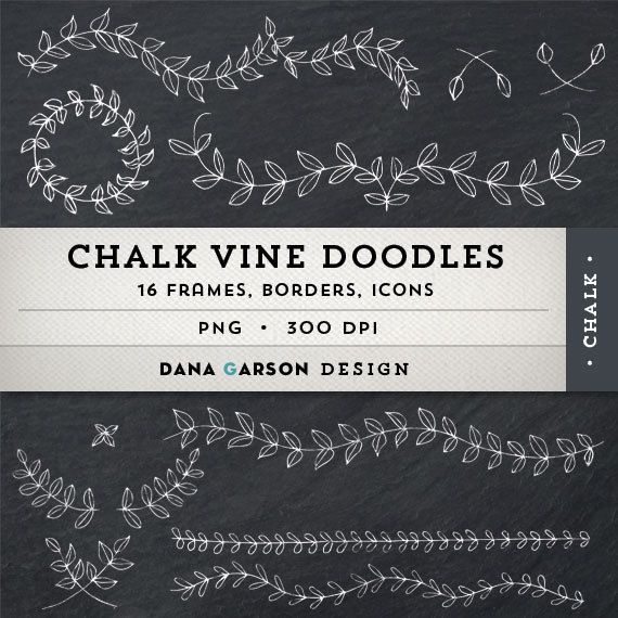 Hey, I found this really awesome Etsy listing at https://www.etsy.com/listing/166453824/chalk-laurels-vine-doodle-borders-and