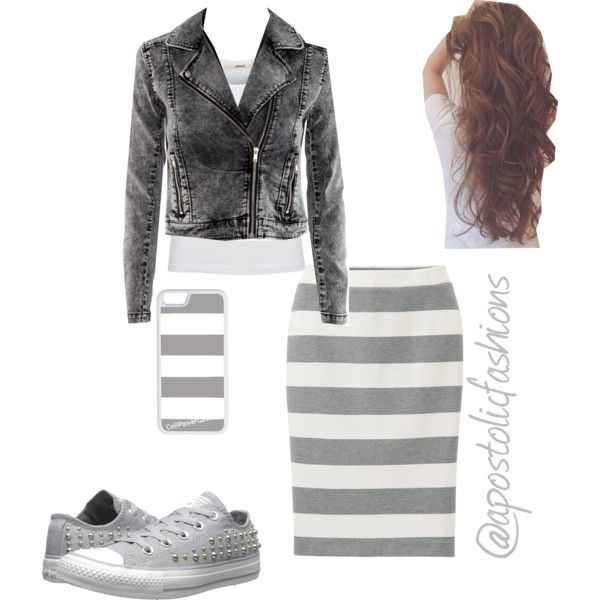 A fashion look from March 2015 featuring J Brand tops, H&M jackets and Uniqlo skirts. Browse and shop related looks.