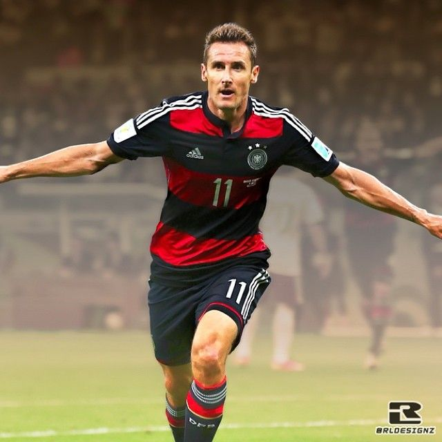 On a night when Germany routed the host nation 7-1 in the World Cup semifinals, #Klose also became the tournament's all-time record scorer — surpassing Brazil great Ronaldo.