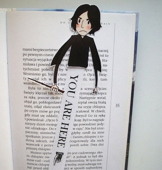 severus snape harry potter books printable bookmark you will get a digital file