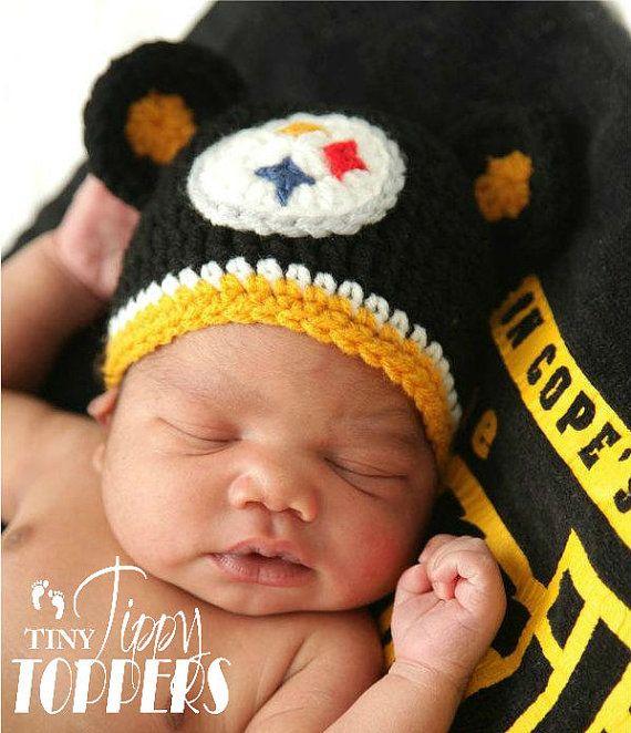 Crocheted Pittsburgh Steelers Hat