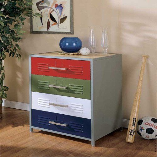 Powell Locker Room Style 4 Drawer Dresser Devon