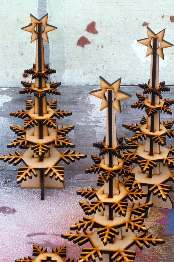 Wintree: un lasercut MDF Navidad árbol por scrubberjohnnies en Etsy