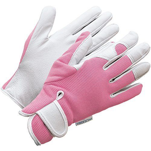 Ladies Leather Gardening Gloves - Feminine Slim-fit Work Gloves for Women (Medium). Ideal for Garden and Household Tasks, Even Safe for Pruning Roses! Best Gift Idea for Gardeners. Buy on Sale on NOW!