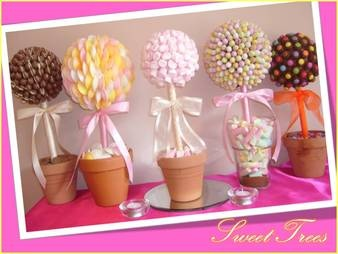 sweet trees as table centres