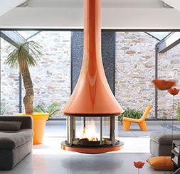 Hanging fireplace, suspended fireplace & modern stoves - JC Bordelet