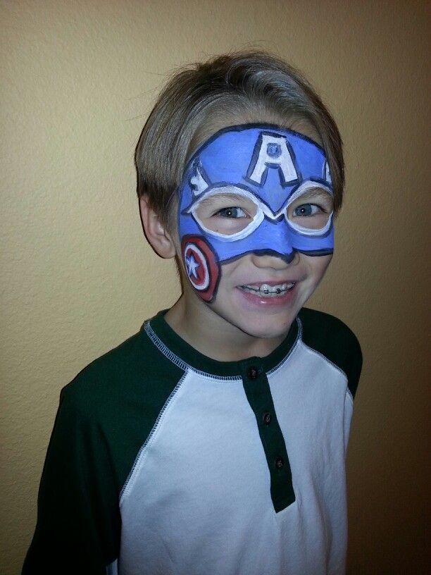 Captain america face paint face paint designs for America s finest paint