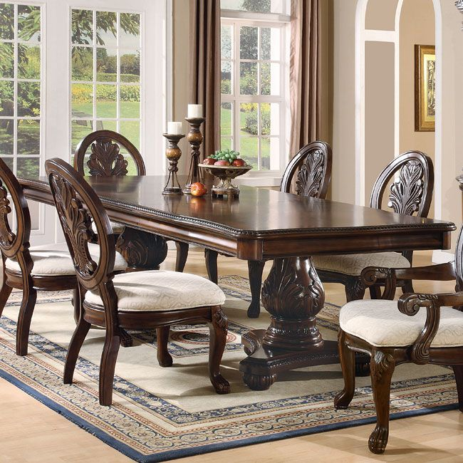 Tabitha Double Pedestal Dining Table