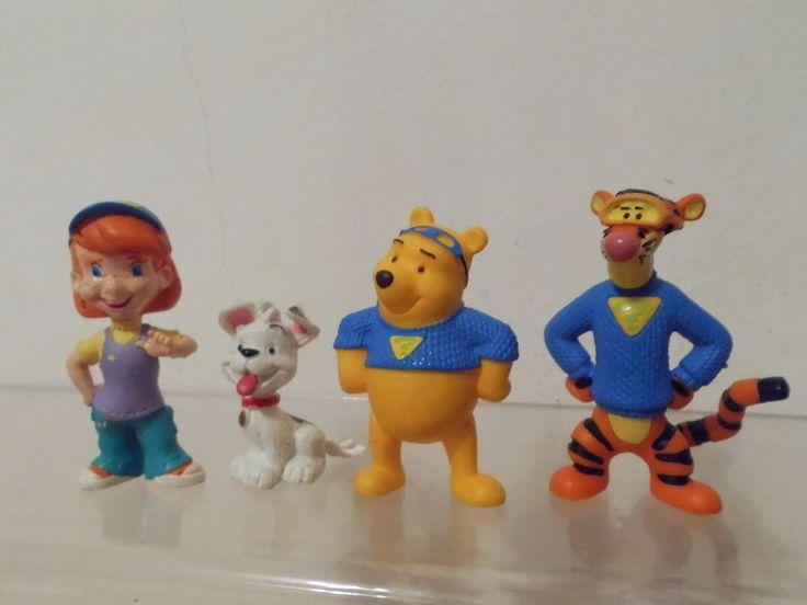 Walt Disney Winnie Poh Winni Pu Bully 4 x Figur Detektiv Spürnasen Darby,Buster    eBay