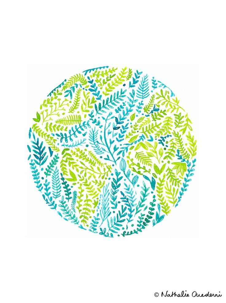 Watercolor World Globe for Earth Day 2015 - Nathalie Ouederni | www.studiokalumi.com