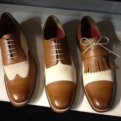 hessian and calf shoes