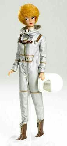 Vintage Barbie Miss Astronaut #1641 (1965)Silver Space SuitWhite HelmetBrown Plastic GlovesBrown Boots with ZipperAmerican FlagVintage Ken Mr. Astronaut #1415 (1965)Silver Space SuitWhite HelmetBrown Plastic GlovesBrown Boots with ZipperAmerican FlagBarbie and Ken celebrated the excitement of the space program in 1965. Although Neil Armstrong did not take his famous first moon walk until 1969