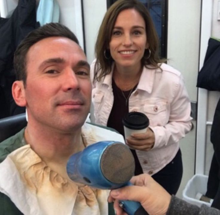 Jason David Frank and Amy Jo Johnson