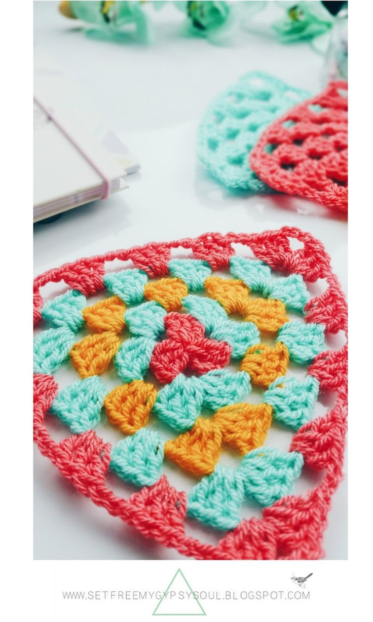Image result for crochet triangles free pattern